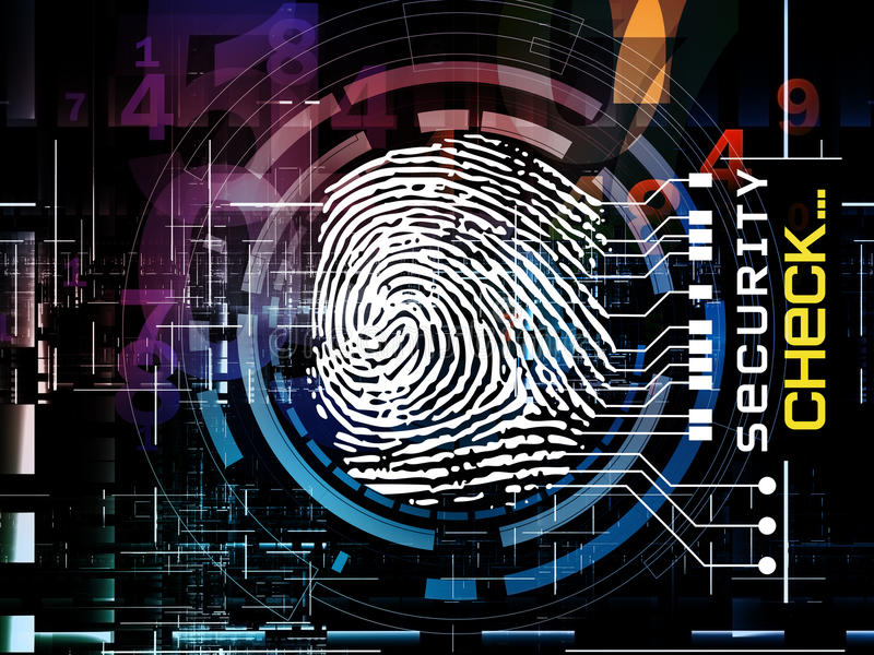 Fingerprint Access stock illustration