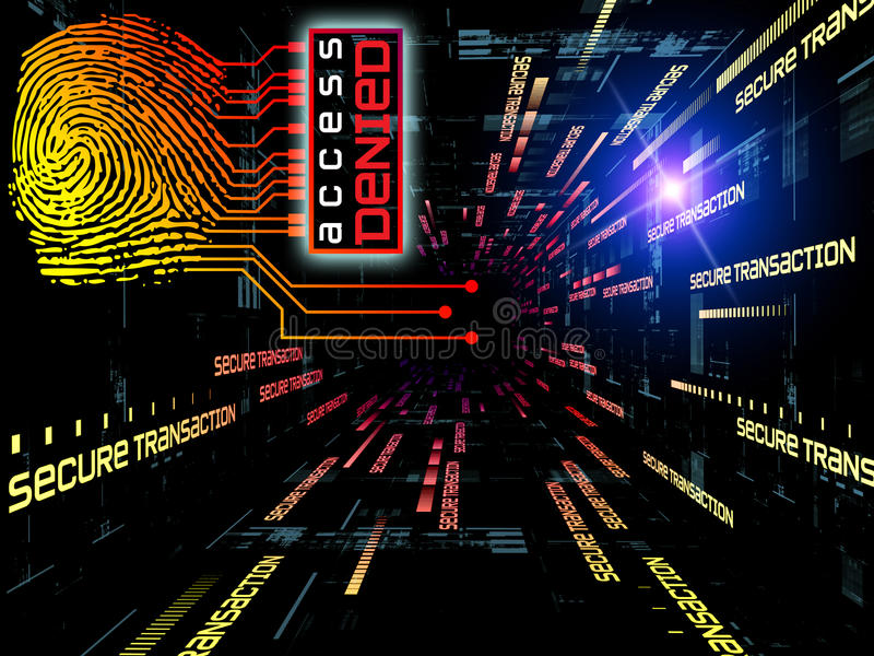 Download Fingerprint Access stock illustration. Image of chip - 20554586