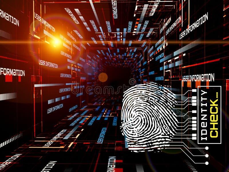 Fingerprint Access Royalty Free Stock Photo
