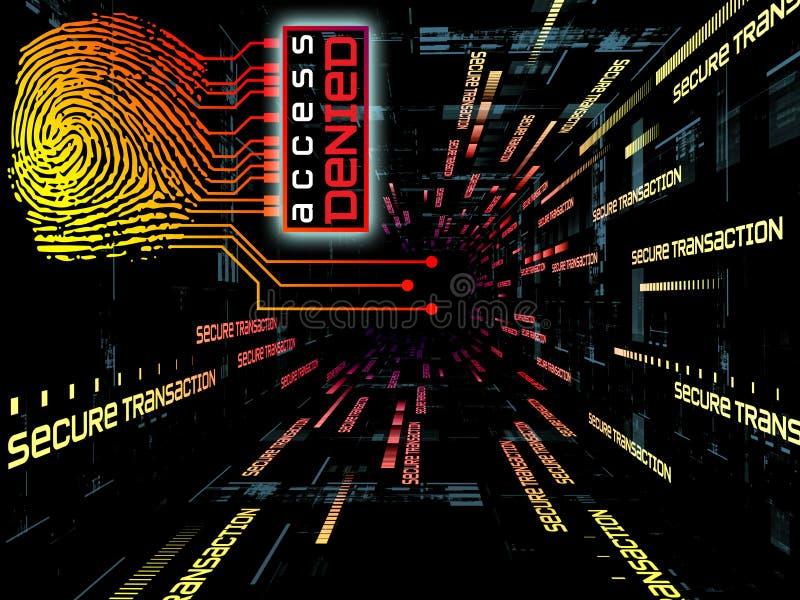 Download Fingerprint Access stock illustration. Image of connection - 20742066