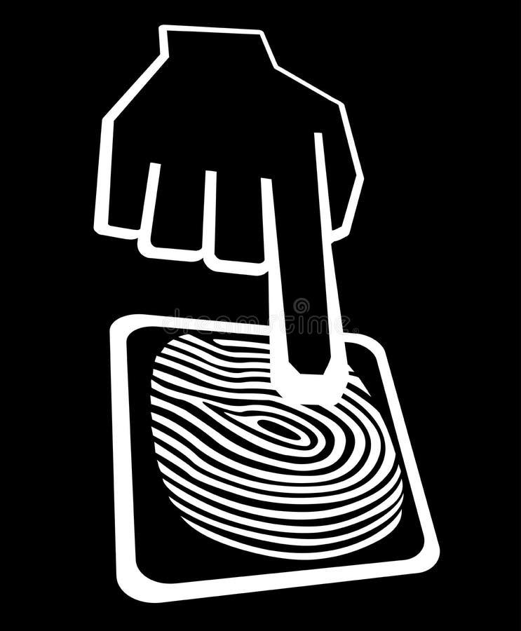 Free Fingerprint Access Icon Royalty Free Stock Photo - 43347305