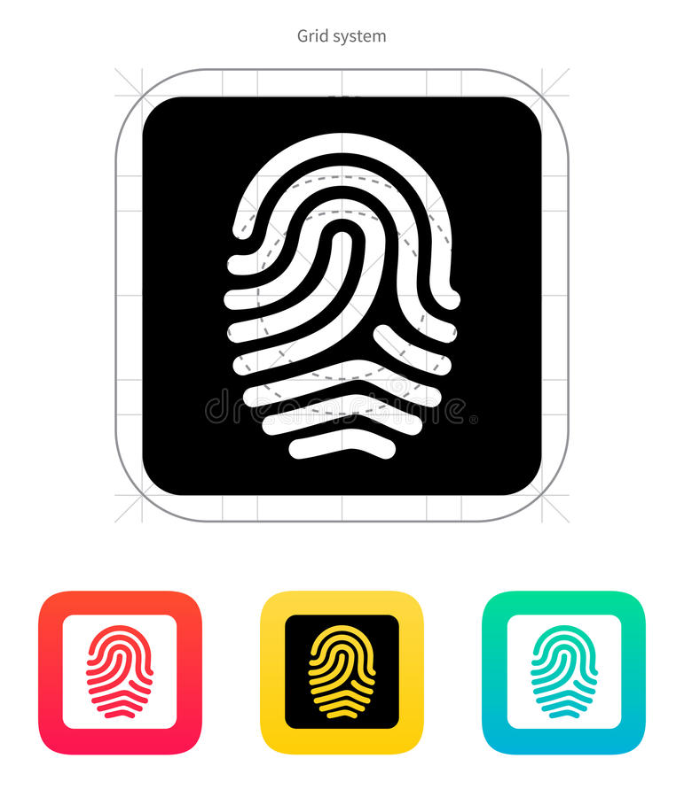 Free Fingerprint And Thumbprint Icon. Stock Image - 34039451