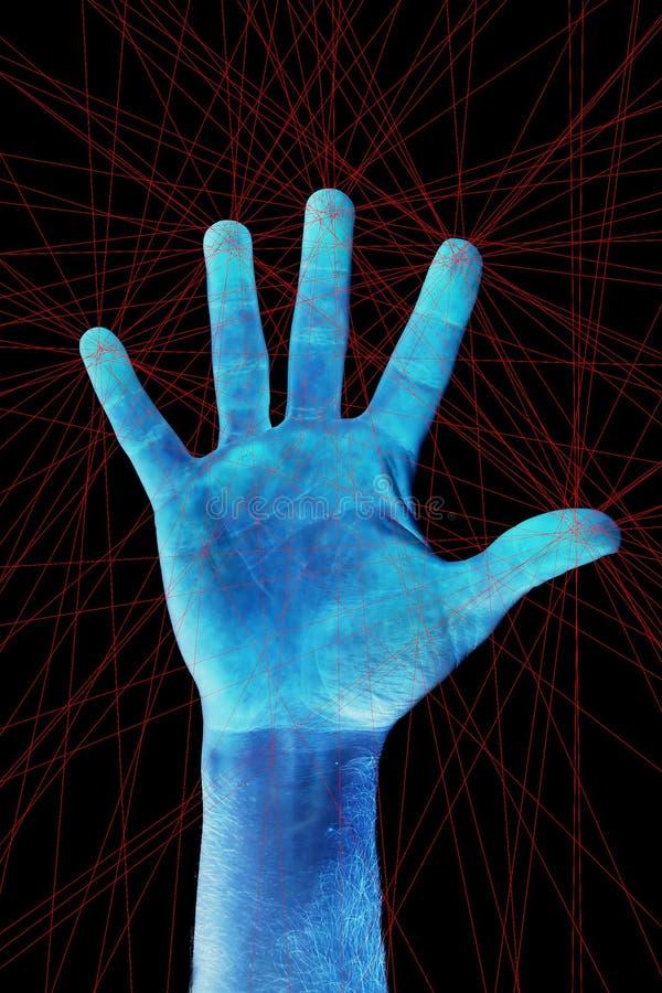 fingerprint bildläsningen arkivfoto