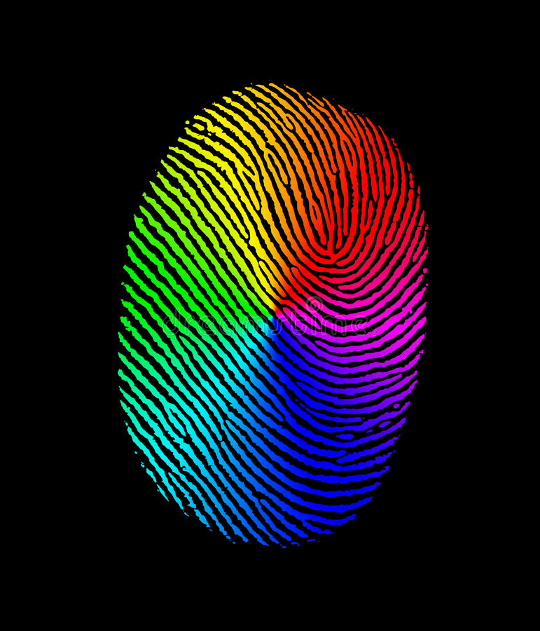 Free Fingerprint Biometric Rainbow Royalty Free Stock Images - 19584159