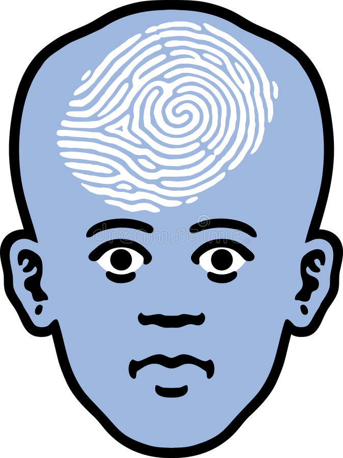 Fingerprint Face vector illustration