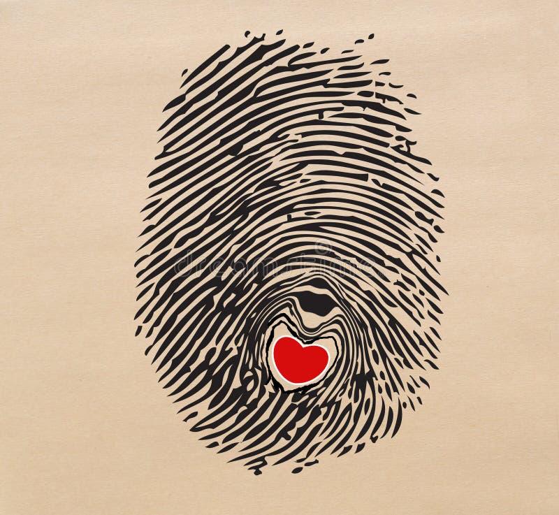 Download Fingerprint heart stock illustration. Illustration of design - 28780053