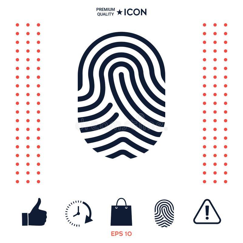 Download Fingerprint Icona Esplorata Del Dito Illustrazione Vettoriale - Illustrazione di piano, obbligazione: 117975068