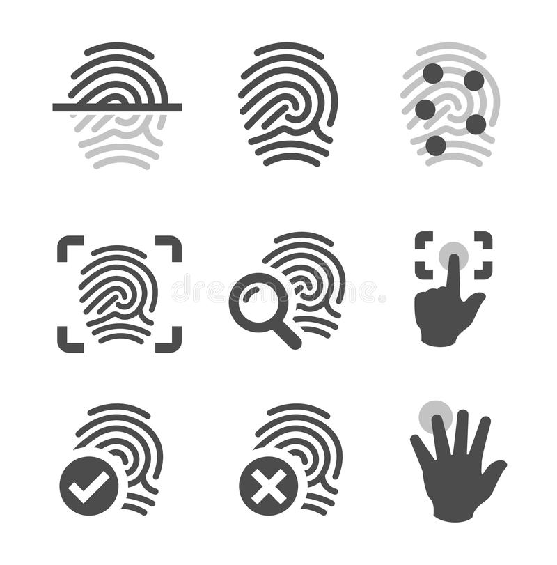 Fingerprint icons vector illustration