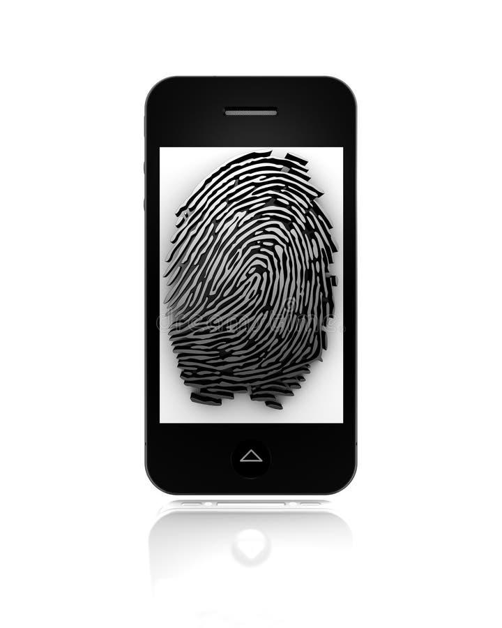 fingerprint mobilen vektor illustrationer