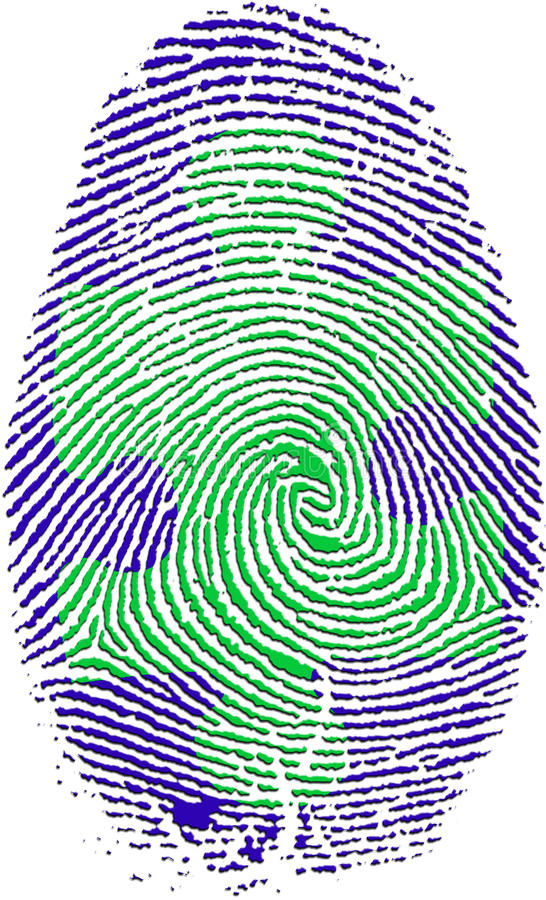 fingerprint pussel vektor illustrationer