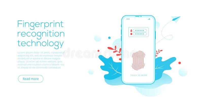 Finger Fingerprint Scanner Device Stock Illustrations – 492