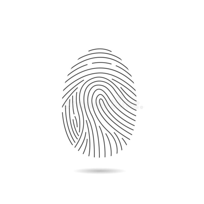 Fingerprint scan icon royalty free illustration