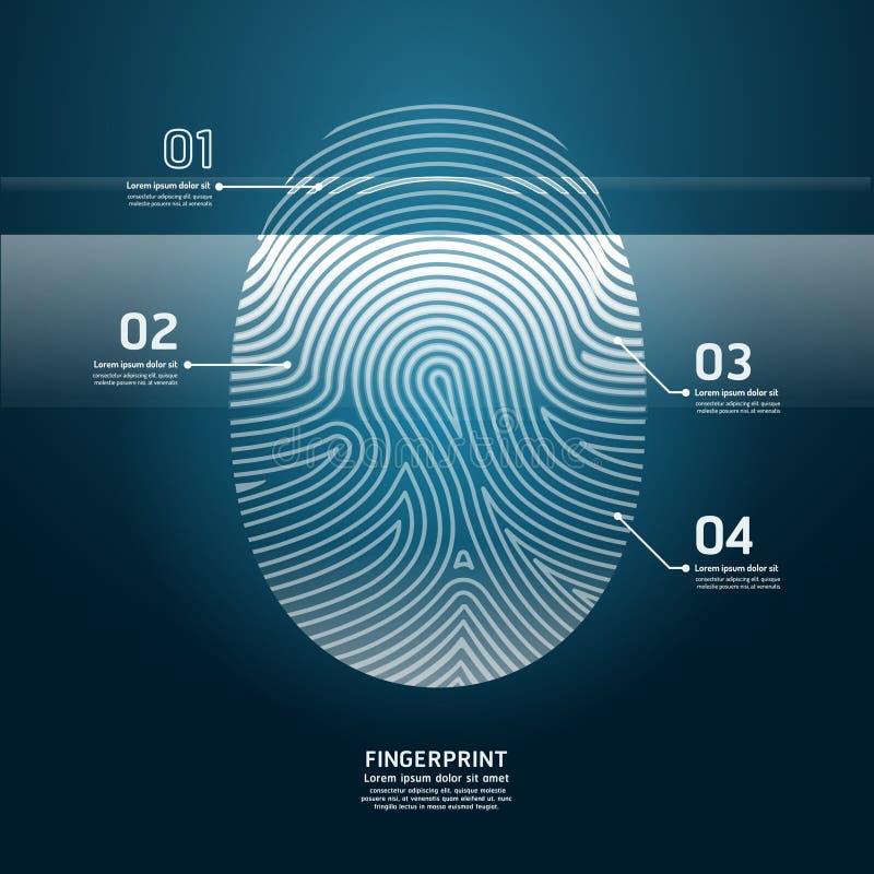 Fingerprint Scan vector design illustration. vector illustration