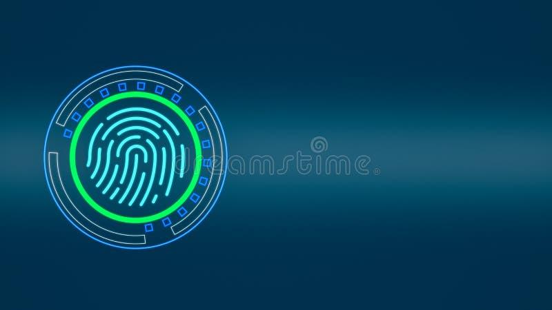 Fingerprint scanner concept royalty free illustration