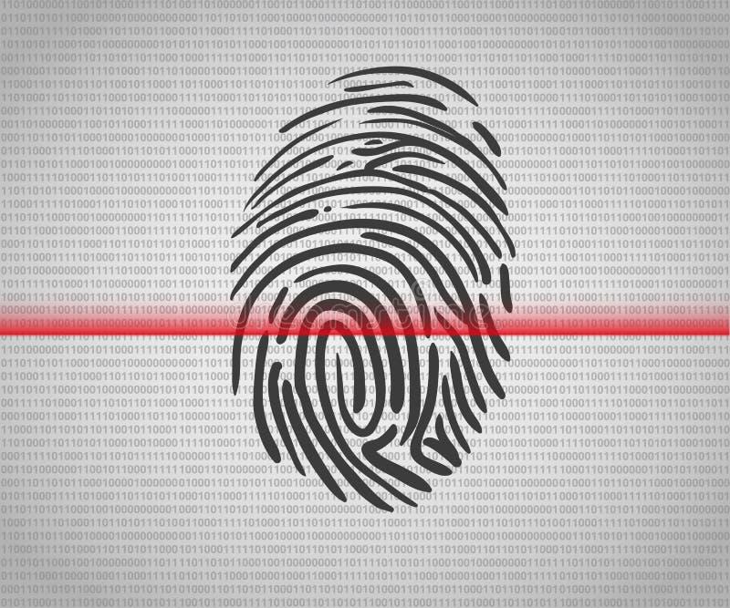 Fingerprint scanning vector illustration