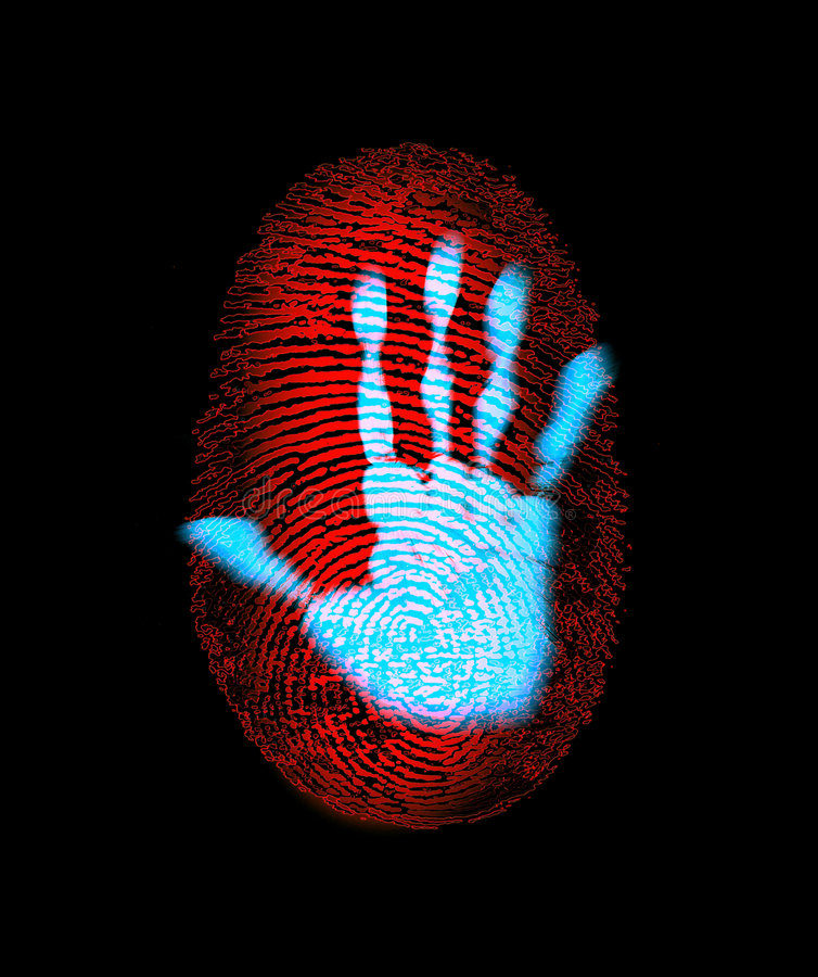 Fingerprint Security Hand Identity Theft royalty free illustration