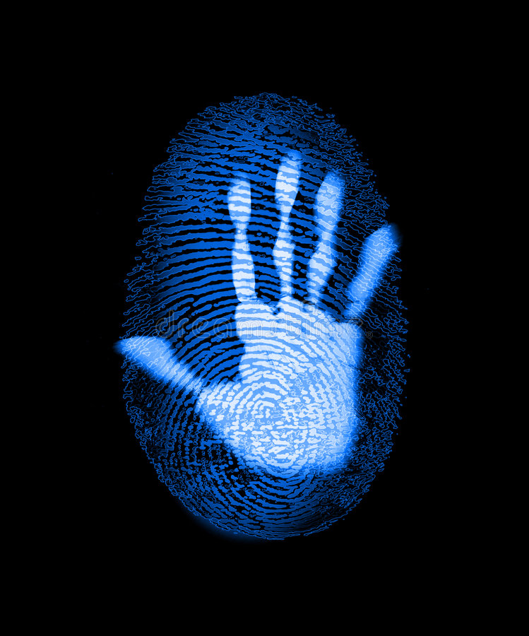 Fingerprint Security Identity Crime Hack vector illustration