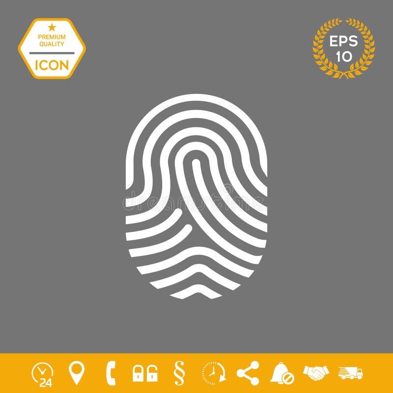 fingerprint Skanująca palcowa ikona Graficzni elementy dla twój projekta ilustracji