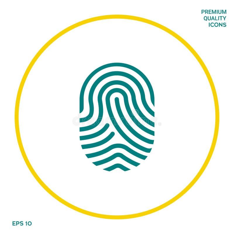 fingerprint Skanująca palcowa ikona Graficzni elementy dla twój projekta ilustracja wektor