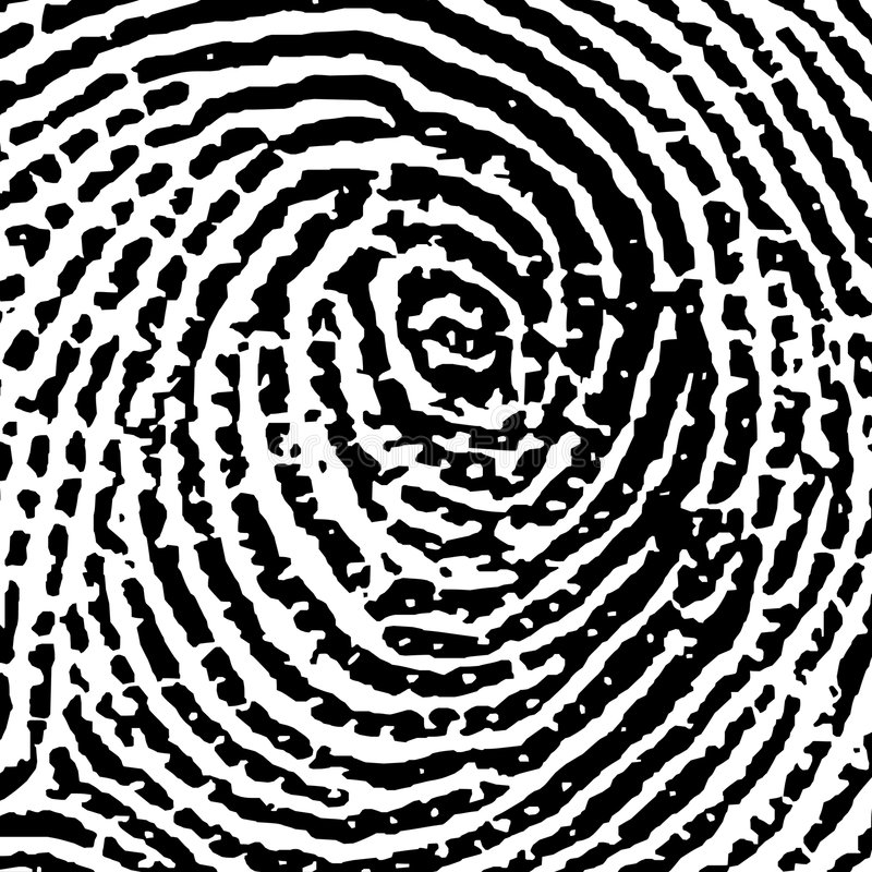Fingerprint14crop6 vector illustratie