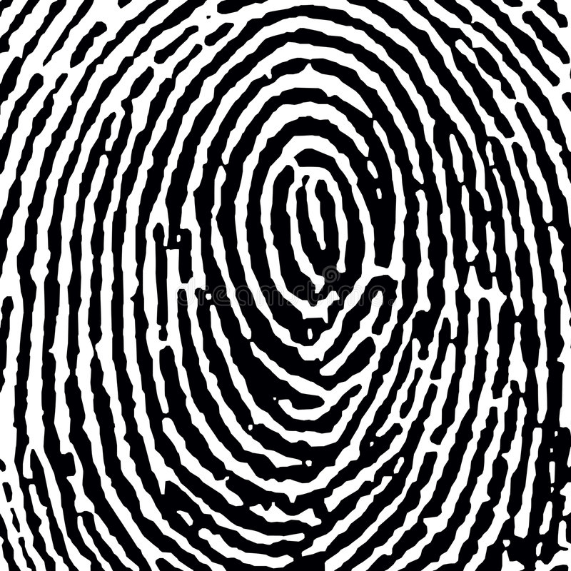Fingerprint16_crop_DT.jpg vector illustratie