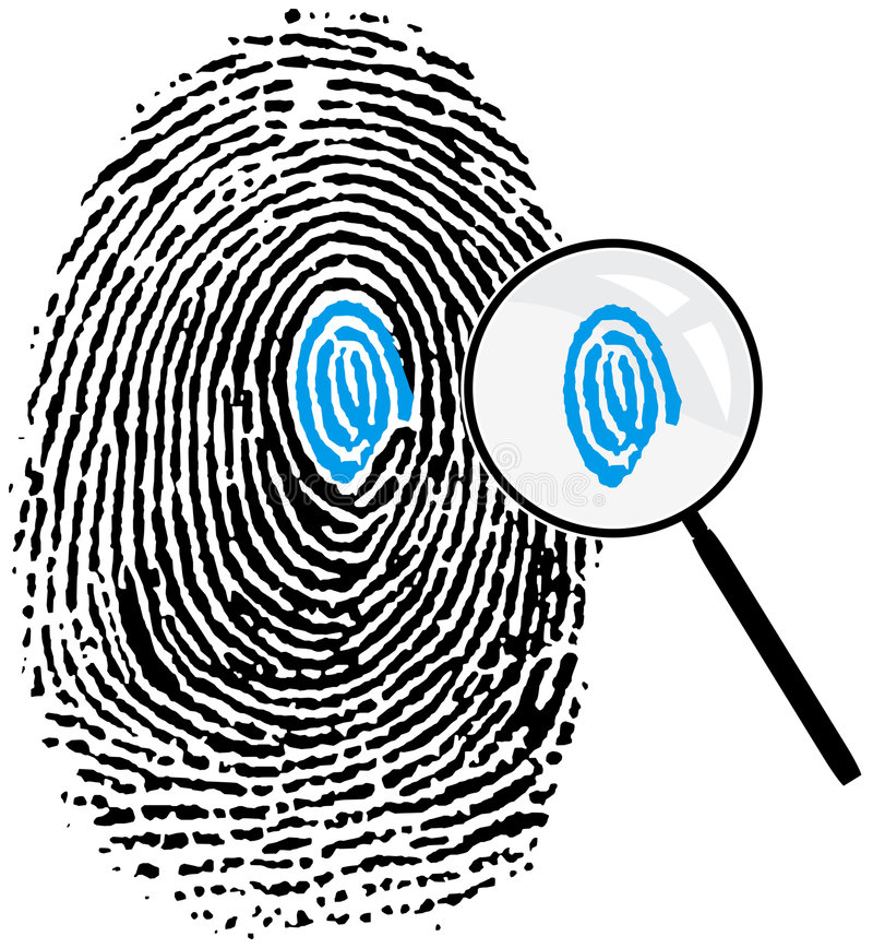Fingerprint16_detalles stock illustratie