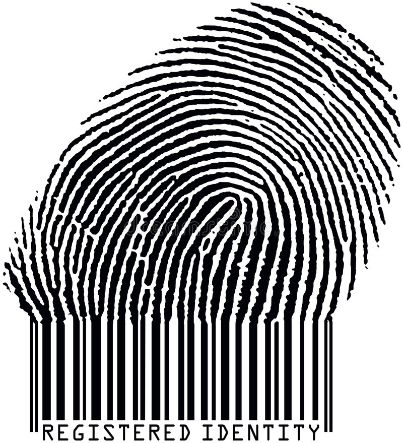 Fingerprint17barcode1 vector illustratie