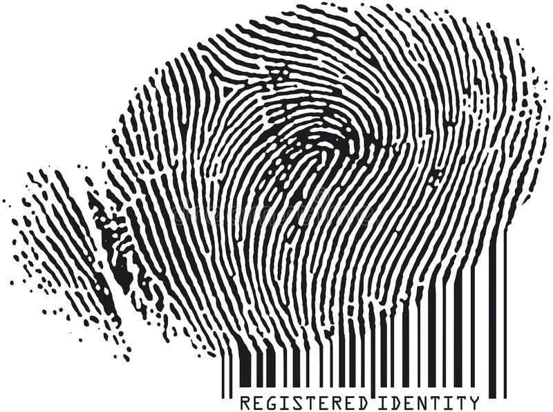 Fingerprint7codebar illustration libre de droits