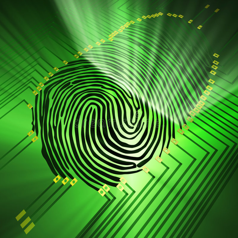 Download Fingerprinting stock illustration. Illustration of finger - 4403283