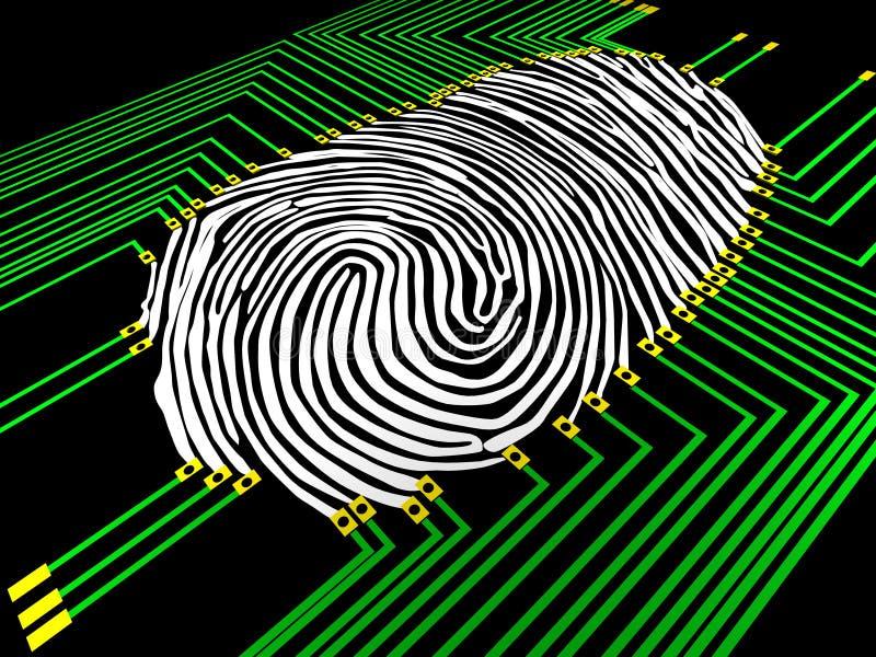 Fingerprinting ilustração stock