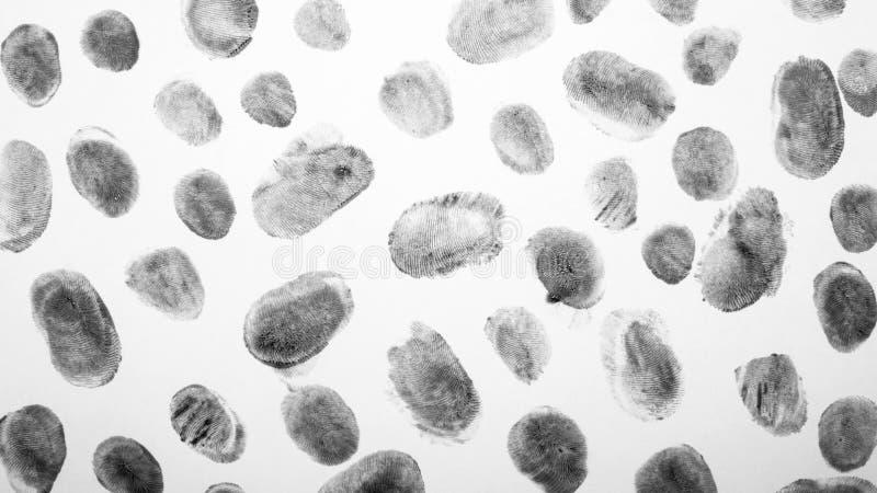 fingerprints Υπόβαθρο με τα δακτυλικά αποτυπώματα στοκ φωτογραφίες