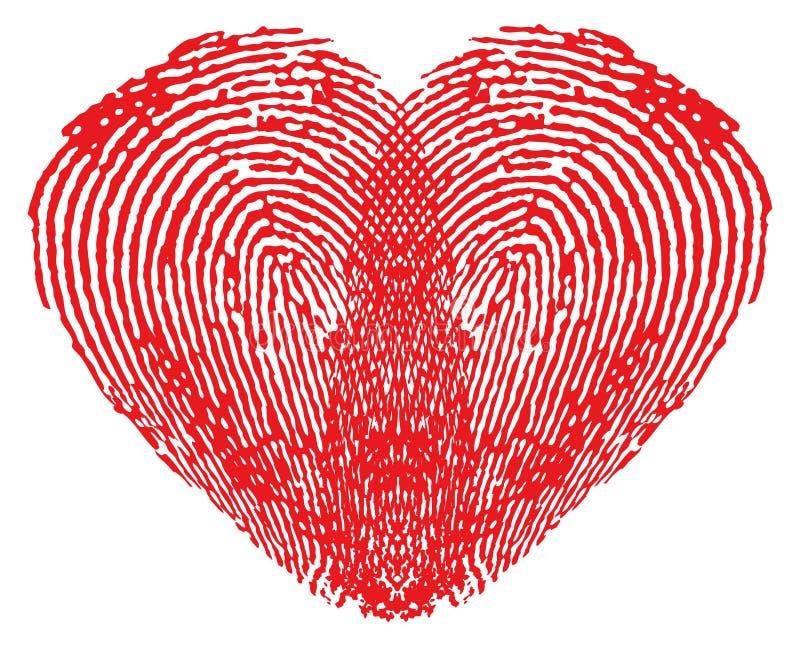 fingerprints сделанное сердце романтичным иллюстрация штока