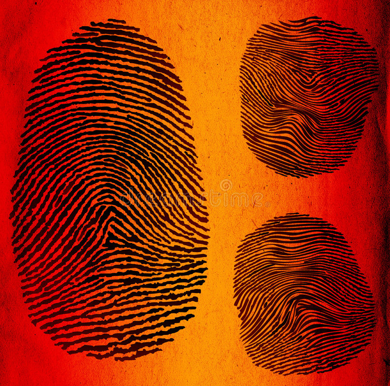 Fingerprints vector illustration