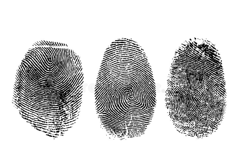 Fingerprints royalty free illustration