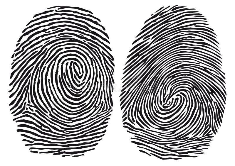 fingerprints illustration libre de droits