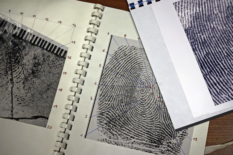 fingerprints immagine stock