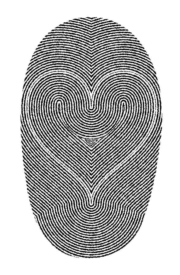Download Fingerprints and heart stock vector. Illustration of silhouette - 24162587