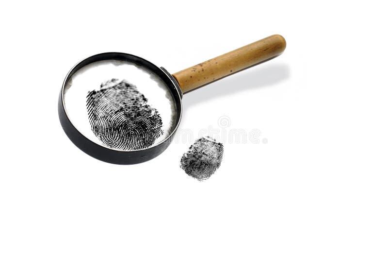 Fingerprints on a paper. The image of fingerprints on a paper stock photo
