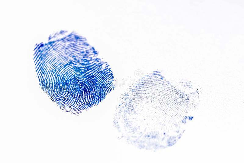Fingerprints on a paper. The image of fingerprints on a paper stock photos
