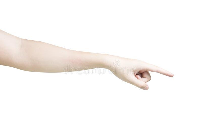 Fingerpunkt stockbilder