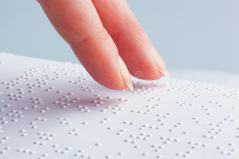 Download Fingers And Braille. Blind Read. Royalty Free Stock Images - Image: 18171559