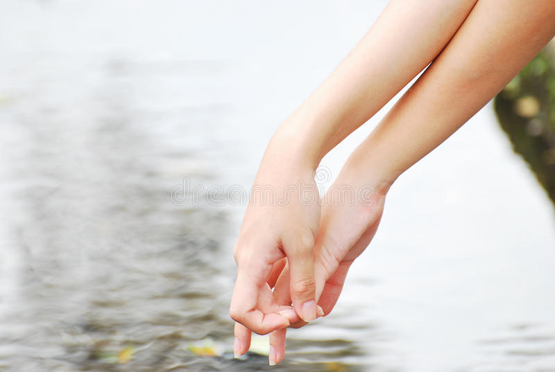 Download Fingers Crossed stock photo. Image of manicure, river - 21704516