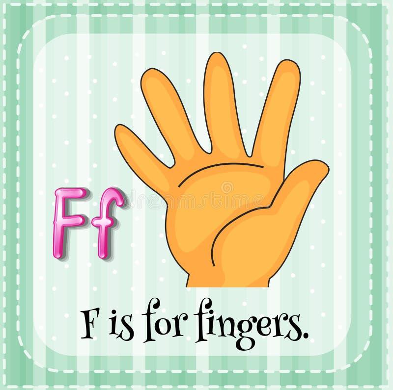 Fingers royalty free illustration