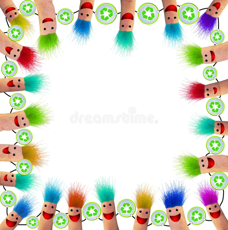 Download The Fingers frame stock illustration. Illustration of happiness - 24041838