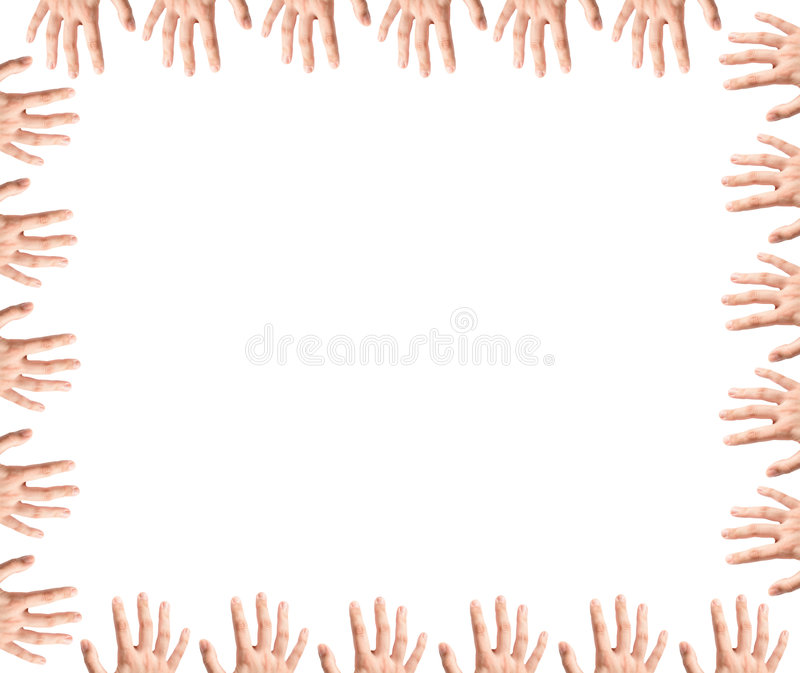 Fingers Frame stock images