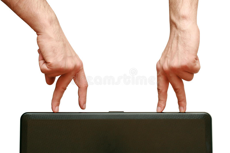 Fingers Are Going To Meet Each Other Royalty Free Stock Photography