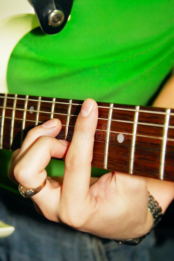 Download Fingers of Guitar Player stock image. Image of hand, close - 2444259