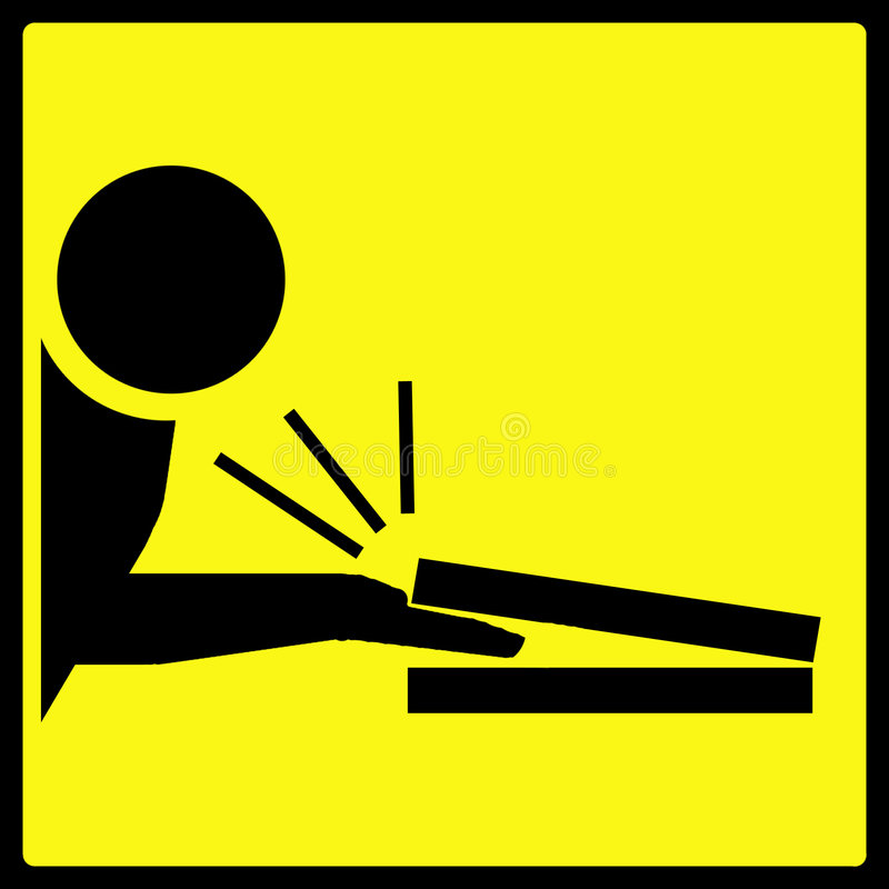 Fingers Pinched Warning Sign vector illustration