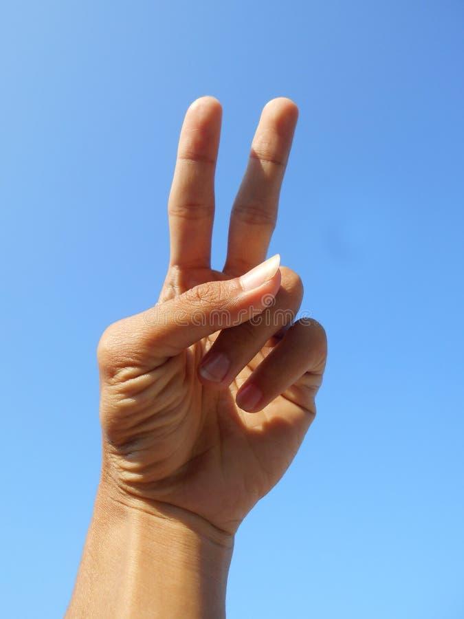 2 Fingers stock photos
