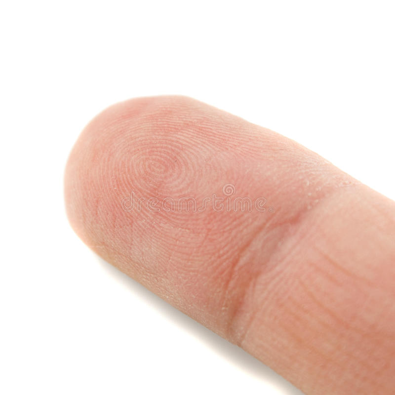 Fingertip on white royalty free stock images